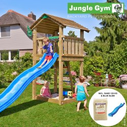 Jungle Gym legetårn m. 120 kg sand og rutschebane