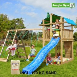 Jungle Gym Fort legetårn m. klatremodul og sand