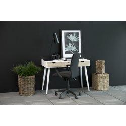 Neptun Skrivebord m/3 skuffer, hvid/hvid, 110x50cm