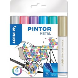 Pilot Pintor Metal Marker   M   6 farver
