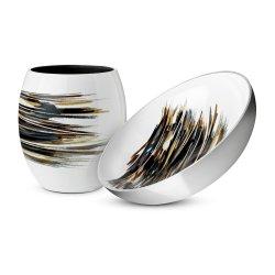 Stelton Stockholm Lignum vase & skål