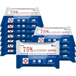 Alkohol Wet Wipes 75 %, 10 stk