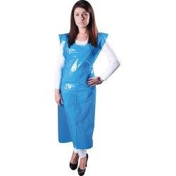 Engangsforklæde 90x150 cm, blå, 100 stk
