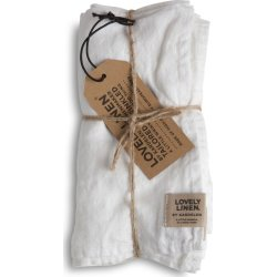 Lovely Linen Serviet, 45 x 45 cm, hvid, 4 stk.