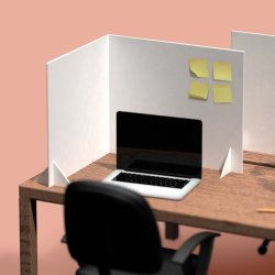 DropBucket bordskærmvæg, 60x53 cm, hvid