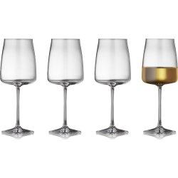 Lyngby Glas Zero Hvidvinsglas 43 cl, 4 stk