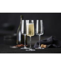 Lyngby Glas Zero Champagneglas 30 cl, 4 stk
