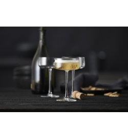 Lyngby Glas Zero Champagneskål 26 cl, 4 stk