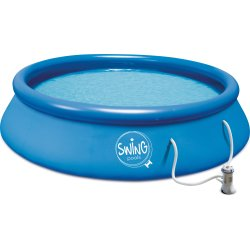 SWING POOL – 5.600 Liter Ø3,66m med pumpe & slange