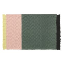 Normann Copenhagen Trace tæppe, rosa/grøn