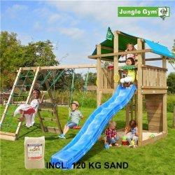 Jungle Gym Fort legetårn m. klatremodul og sand