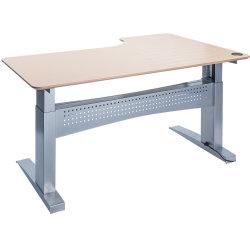 Easy stand 160 hæve/sænkebord venstre, ahorn/alu