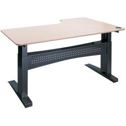 Easy stand 180 hæve/sænkebord venstre, ahorn/sort
