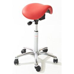 CL Dalton sadelstol, rød, kunstlæder, 58-77 cm