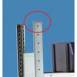 META Clip topstykke i plast til gavl, dobbeltsidet