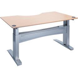 Easy stand 200 hæve/sænkebord centerbue, bøg/alu