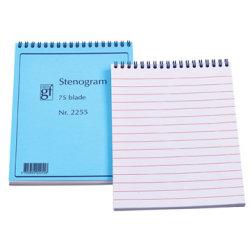 Stenogramblok, 75 blade