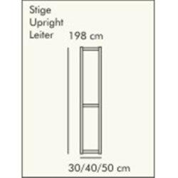 ABC Reolstige HxD: 198x40 cm, hvidlaseret
