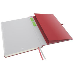 Leitz Complete notesbog A4, linjeret, rød