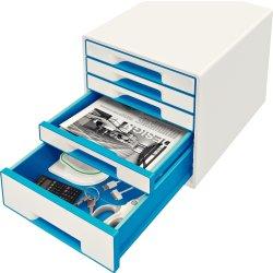 Leitz WOW CUBE skuffekabinet, 5 skuffer, blå