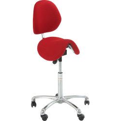 CL Dalton sadelstol m/ ryglæn, rød, stof