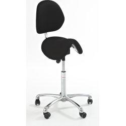 CL Pinto sadelstol m/ ryglæn, sort, stof