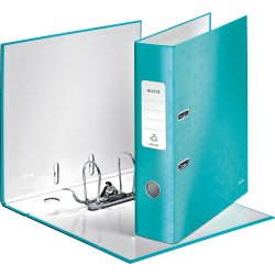 Leitz 180 WOW brevordner A4, 80mm, isblå