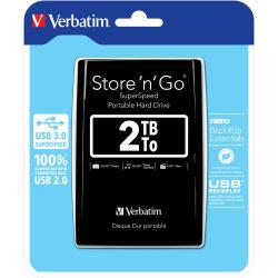 """Verbatim Store 'N' Go 2,5"""" 2TB USB 3.0, sort"""