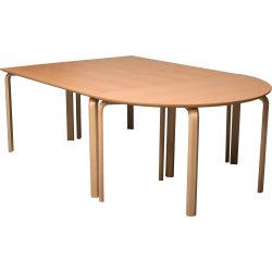 Morten konferencebord halvcirkel 70x140 cm bøg lam