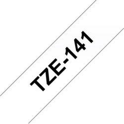 Brother TZe-141 labeltape 18mm, sort på klar