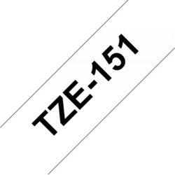 Brother TZe-151 labeltape 24mm, sort på klar