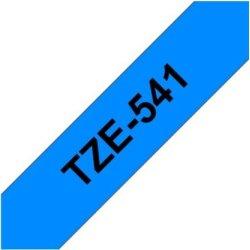 Brother TZe-541 labeltape 18mm, sort på blå