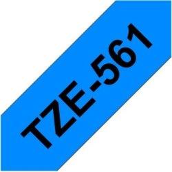 Brother TZe-561 labeltape 36mm, sort på blå