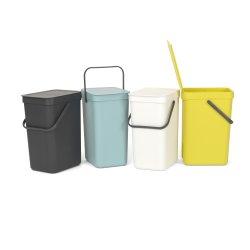 Brabantia Sort&Go Sorteringsspand 12 liter, gul