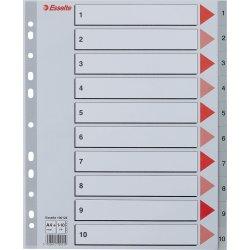 Esselte Maxi register A4,1-10, plast, grå
