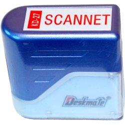 """Deskmate stempel med tekst: """"Scannet"""""""