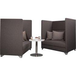 Silence mødesæt m/ 2 sofaer og et loungebord