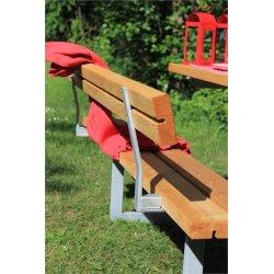 Plus Basic bord-bænkesæt m. ryglæn, Lærk