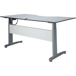 VIKING hæve/sænkebord 180x90 cm hvid / Alu stel