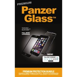PanzerGlass PREMIUM iPhone 6/6S/7 sort, sampak