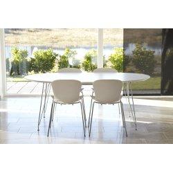DK10 Konferencebord, Hvid, 190x110 cm
