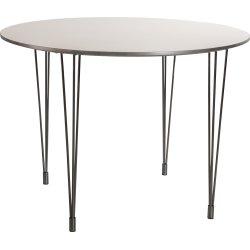 Kantinebord Ø.100 cm hvid m/alukant