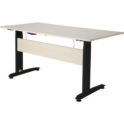 VIKING hæve/sænkebord 160X80, ahorn melamin / sort