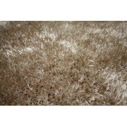Easy beige langhåret luv tæppe 160x230 cm.