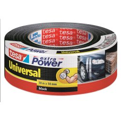 tesa Extra Power Lærredstape, 50 mm, sort