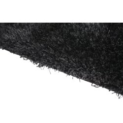 Easy sortlilla tæppe, 190x290