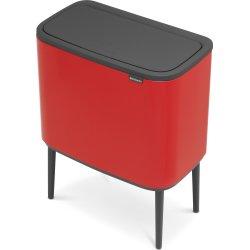 Brabantia BO Touch Bin 11+23 L, passion red