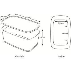 Leitz MyBox Opbevaringsboks Small, hvid/grå