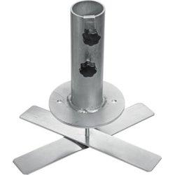 Outfit parasolfod i galv. stål, 14x14x30 cm