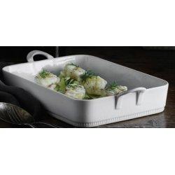 Pillivuyt Toulouse lasagnefad hvid, 34X24,5X7 cm